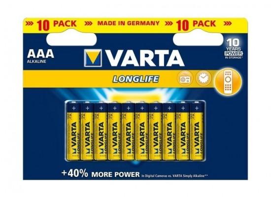 Varta LongLife AAA 10Pcs Alkaline Battery (Double Blister)