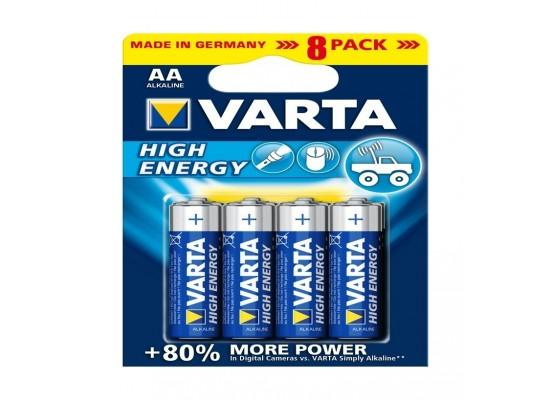 Varta HE 8 AA High Energy Alkaline Battery - 8 Pcs