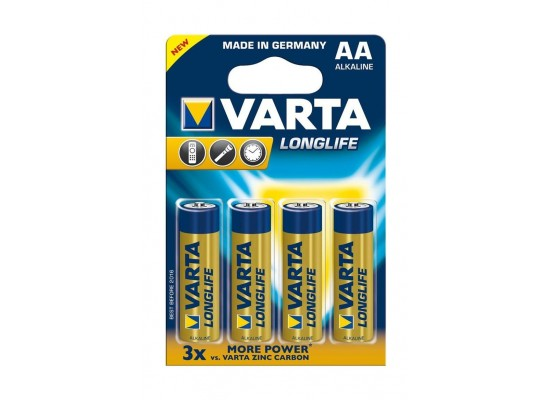Varta LongLife AA 4Pcs Alkaline Battery