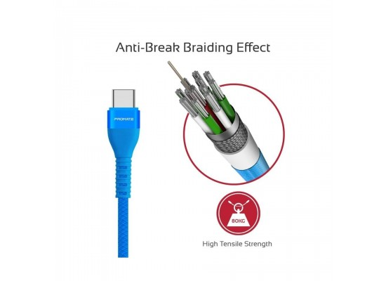 Promate VigoRay-C 1.2 Meter Lightning Cable - Blue