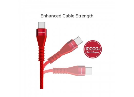 Promate VigoRay-C 1.2 Meter Lightning Cable - Red