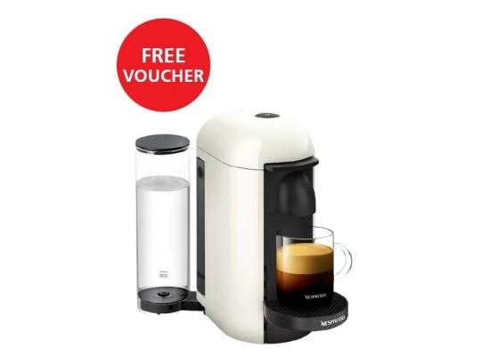 Nespresso VertuoPlus Deluxe Coffee and Espresso Machine - White + Free Voucher