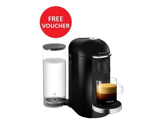 Nespresso Vertuoplus Espresso Machine - Black + Nespresso Free Voucher