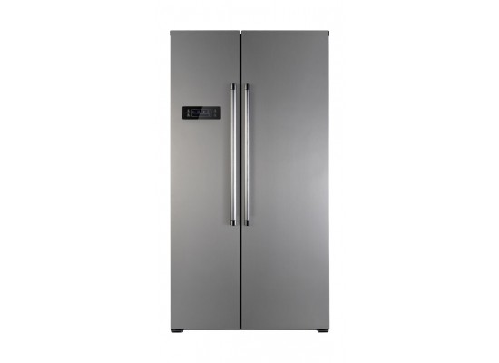 Wansa 20 Cft. Side-By-Side Refrigerator (556NFIC8) - Inox