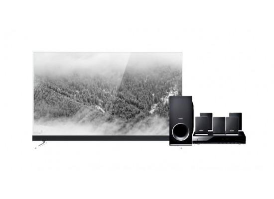 Wansa 55 inch Ultra HD Smart LED TV WUD55G8856SN + Sony DVD Home Theatre System 5.1CH 300W