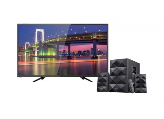 Wansa 32 inch HD LED TV + F&D 2.1 Ch Bluetooth Speaker