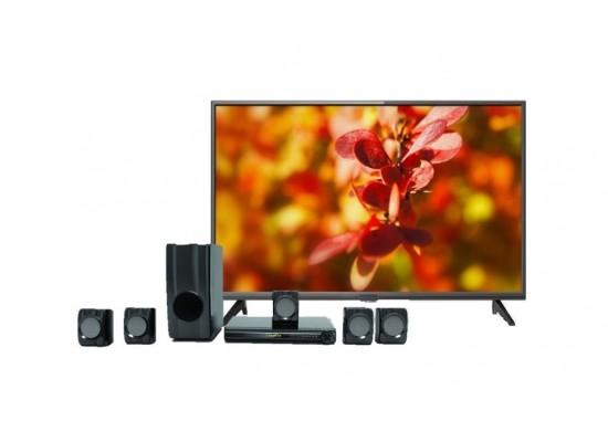 Wansa 50 inch 4K Ultra HD Smart LED TV + Wansa 5.1Ch 185W Bluetooth Home Theatre