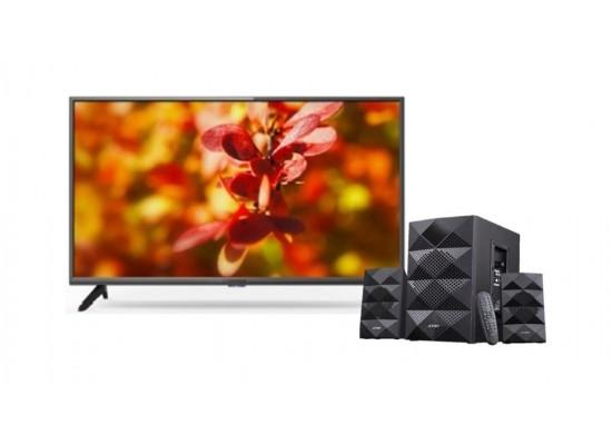 Wansa 40 inch Full HD LED TV + F&D 2.1 Ch Bluetooth Speaker