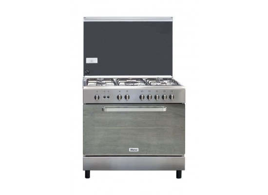 Wansa 90x60cm 5-Burner Floor Standing Gas Cooker (WCI9502214XA) – Stainless Steel