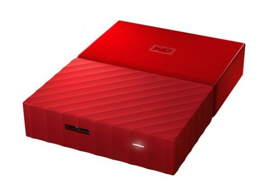 WD 1TB My Passport USB 3.0 External Hard Drive - Red