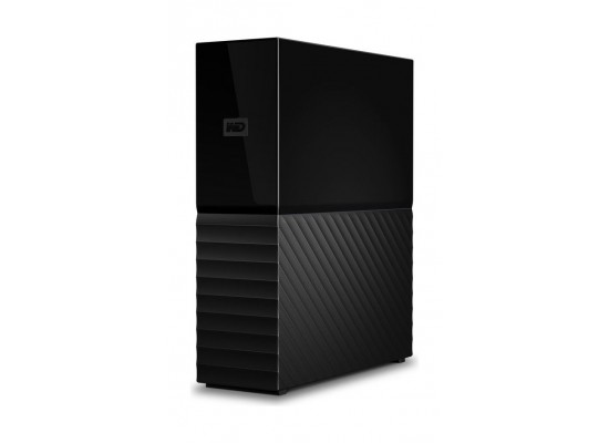 WD My Book 4TB External USB 3.0 Hard Drive Black Side View 1