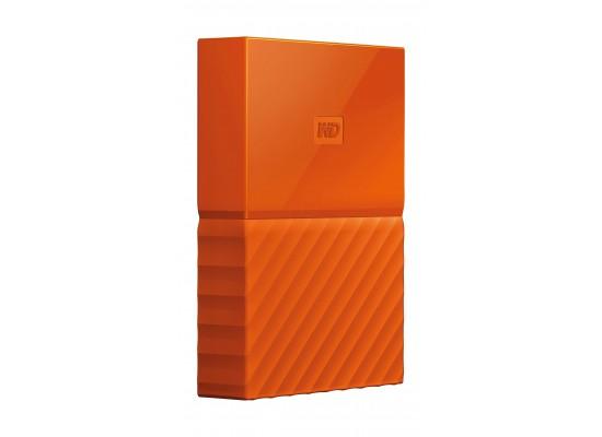 WD 1TB My Passport USB 3.0 External Hard Drive - Orange