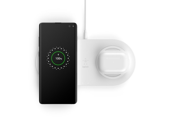 Belkin BOOST CHARGE 2x10W Dual Fast Wireless Charging Pads - White
