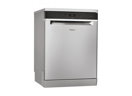 Whirlpool 14 Place Settings 10 Programs Freestanding Dishwasher (WFO3T323) - Silver