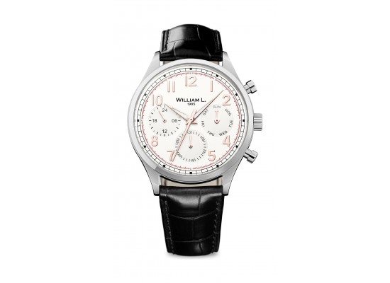 William L Vintage Style Analog Watch - WLAC03BCORCN