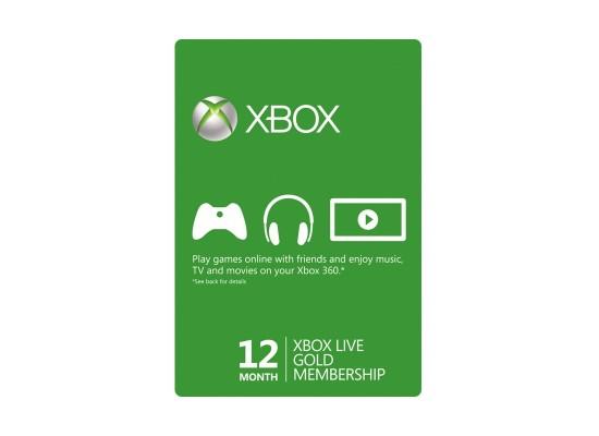 Xbox Live 12-Month Gold Membership Card (US + EU Accounts)