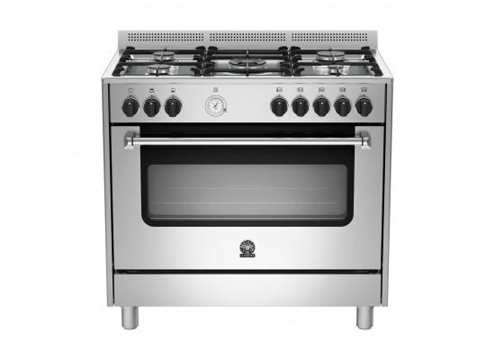 Lagermania 90x60 cm 5-Burner Floor Standing Gas Cooker (AMS95C81CX)