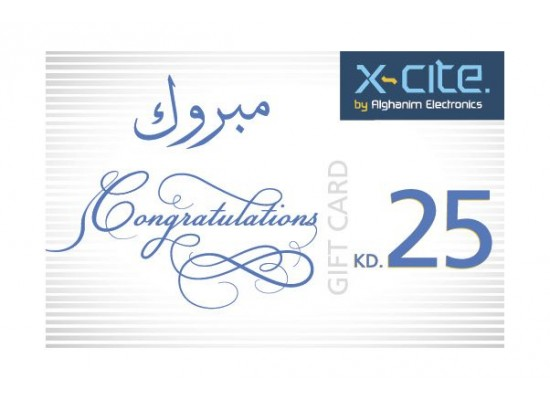 Buy Xcite Gift Card Congratulations 25 Kd Easy Recharge Use At