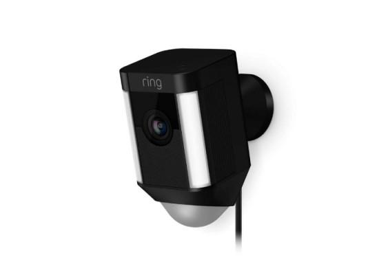 Ring Spotlight Smart Home Security Camera - Black
