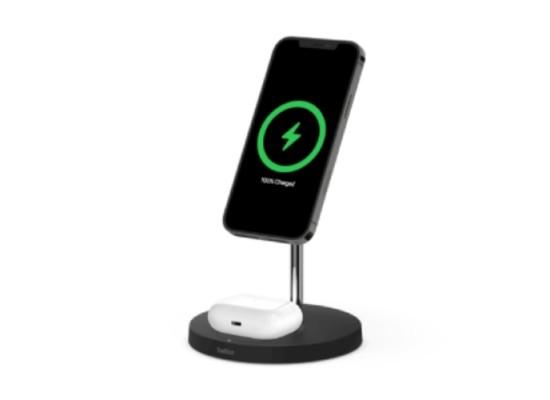 Belkin 15W 2 in 1 Wireless Charger Stand – Black