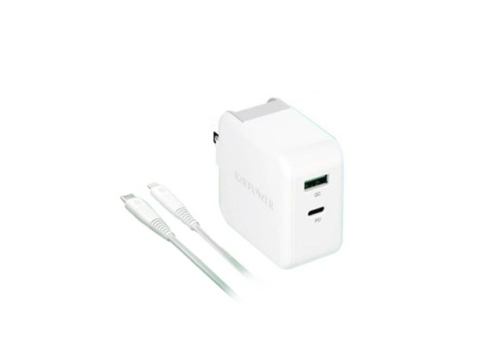 RAVPower 36W UK Wall Charger + Lighting Cable (RP-PC129) - White