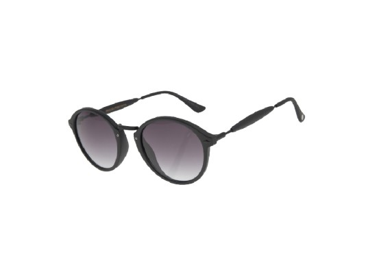 Chilli Beans Round Matte Black Sunglasses - OCCL1677