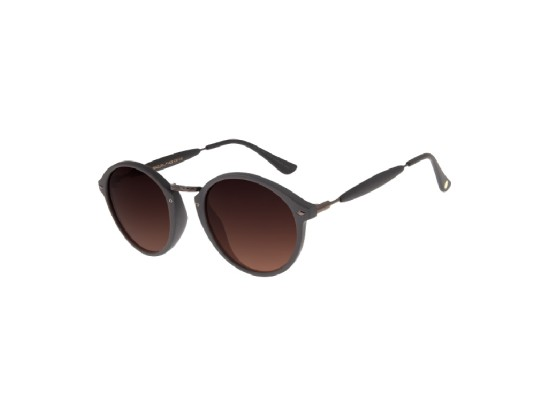 Chilli Beans Round Dark Brown Sunglasses - OCCL1677