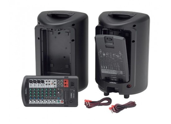 Yamaha Portable PA System With Bluetooth (StagePas 600BT) - Black