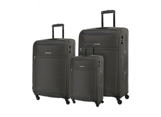 Kamiliant Zaka 3 Sets Soft Luggage (59+69+80cm) - Grey