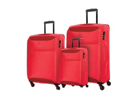 Kamiliant Zaka 3 Sets Soft Luggage (59+69+80cm) - Maroon
