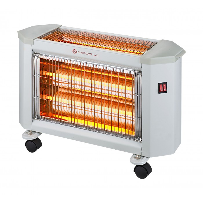 Wansa Radiant 2400w 3 Lamps Electric Halogen Heater Ae 4001