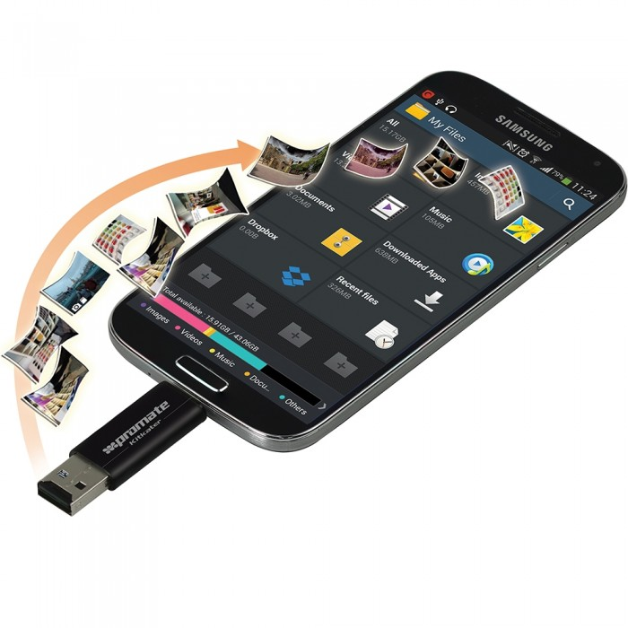 Promate Kitkater Universal Android OTG Data link with Micro-SD Card