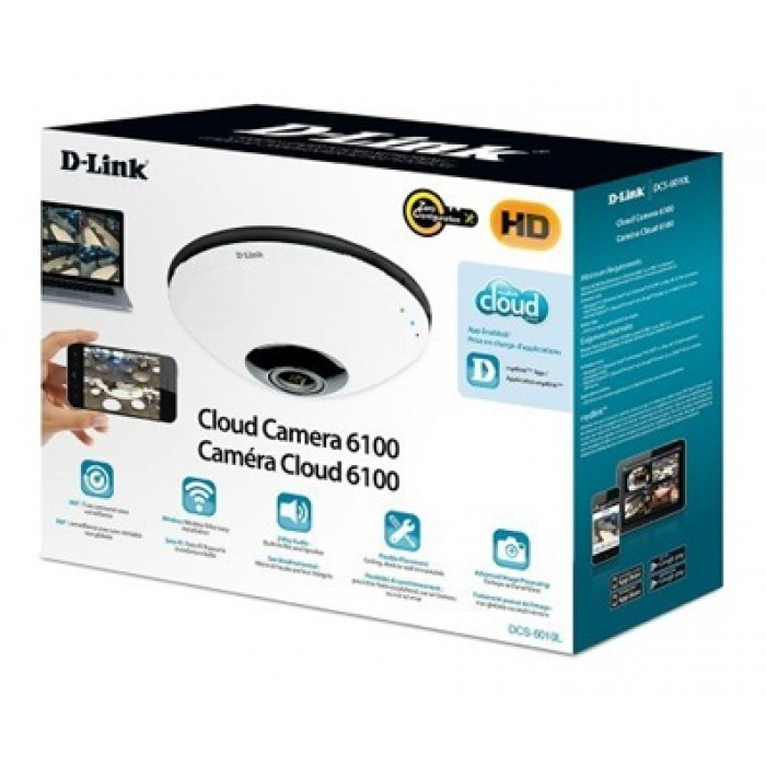 Dlink DCS-6010L Fisheye 360° HD Network Camera - White | Xcite