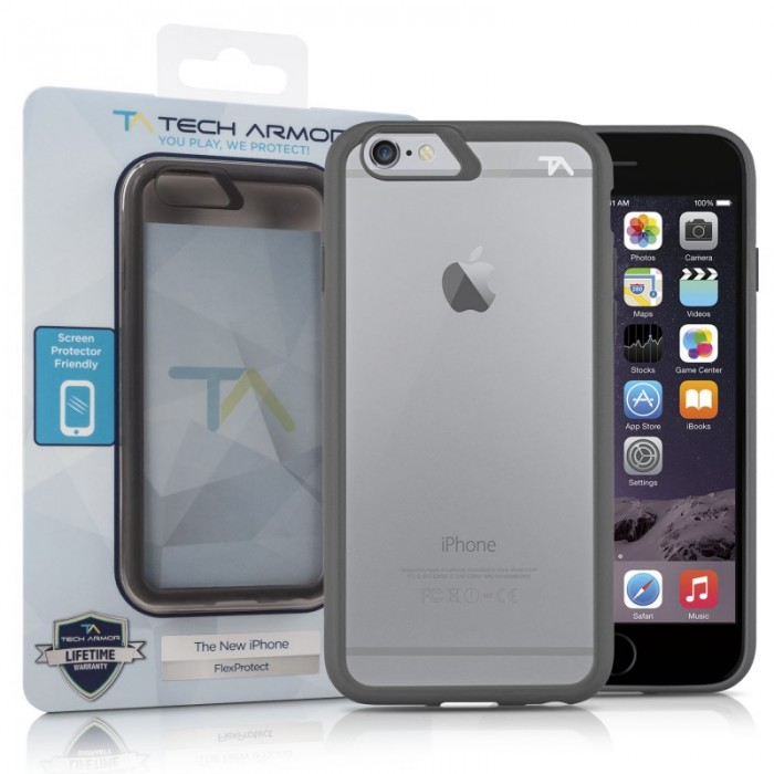 TechArmor Relax Series Flex for iPhone 6 Plus - Grey/Clear |