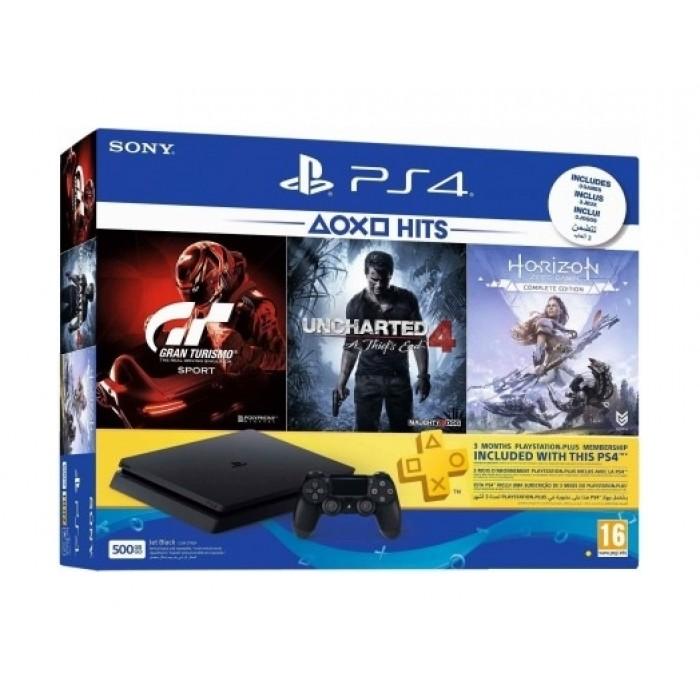 Sony PlayStation 4 Slim 500GB + Gran Turismo + Uncharted 4 +