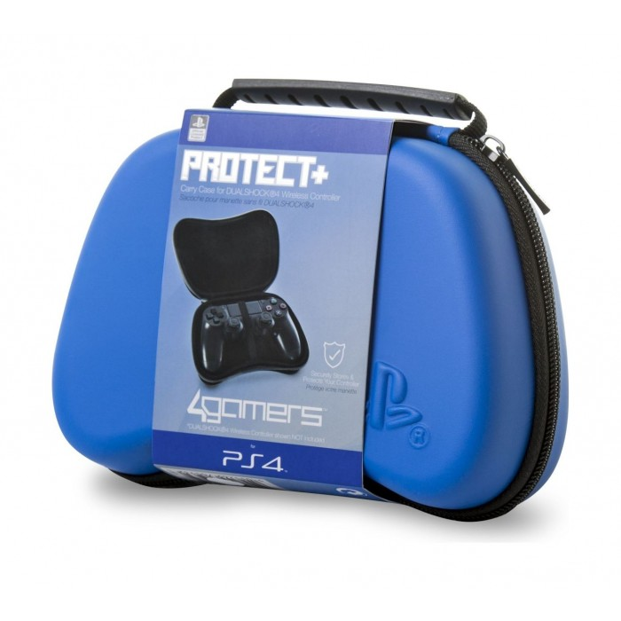 4Gamers PS4 Controller Hard Shell Case - Blue | Xcite