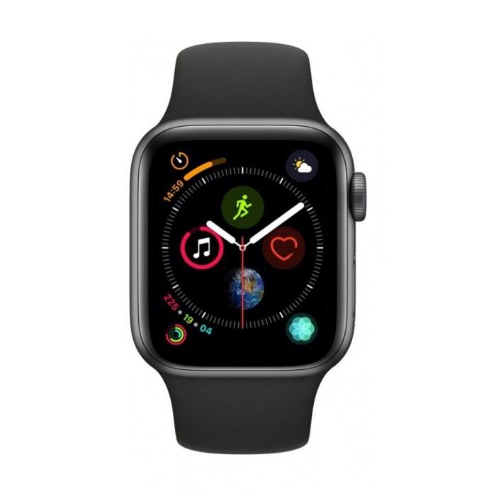 pretty nice db123 0c8f6 Apple Watch Series 4 40mm, Space Grey Aluminium Case, Black Sport Band