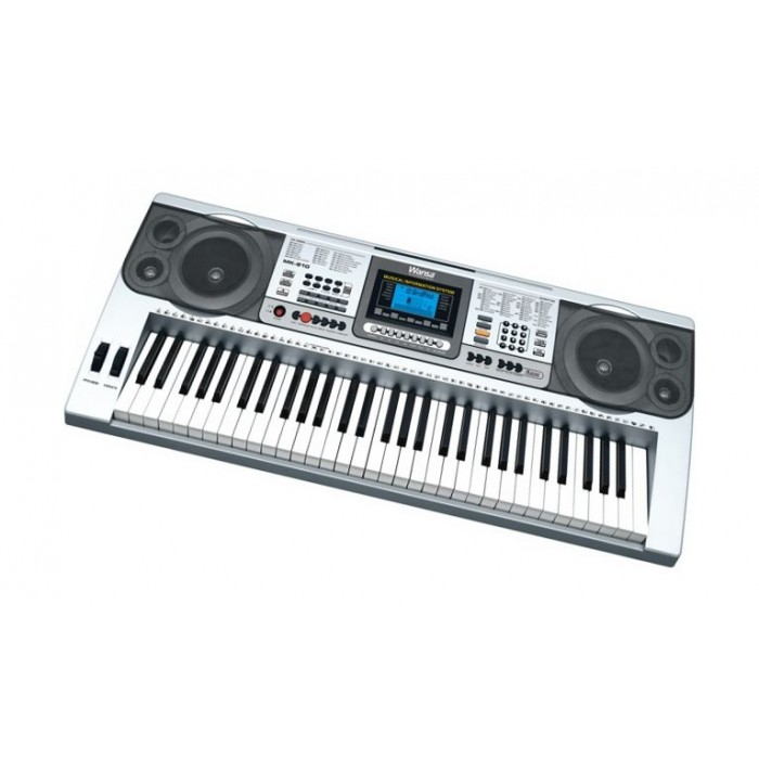 wansa 61 keys musical keyboard  mk-810  - silver