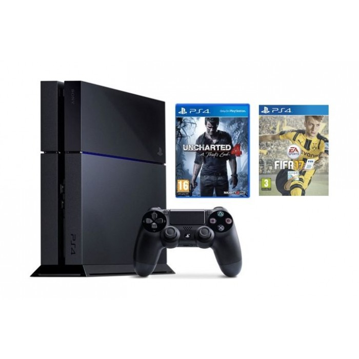 Sony Playstation 4 1tb Console 1 Controller Uncharted 4 Fifa