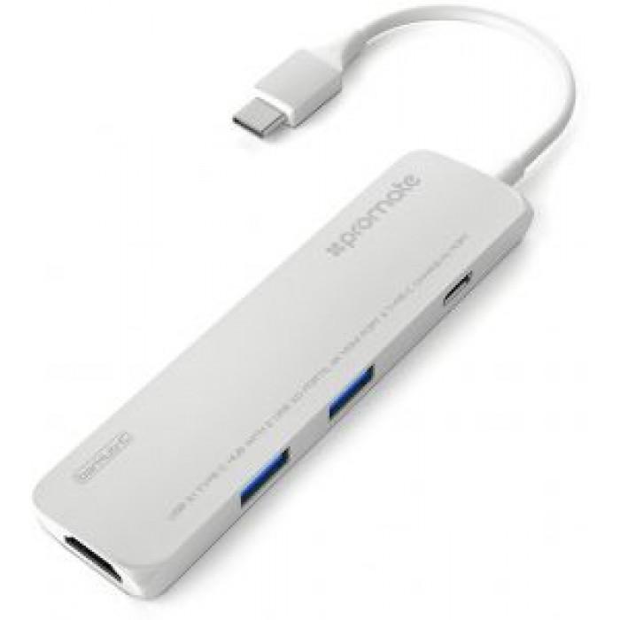 Promate BarHub-C High Speed USB 3 1 Type-C Hub with Power