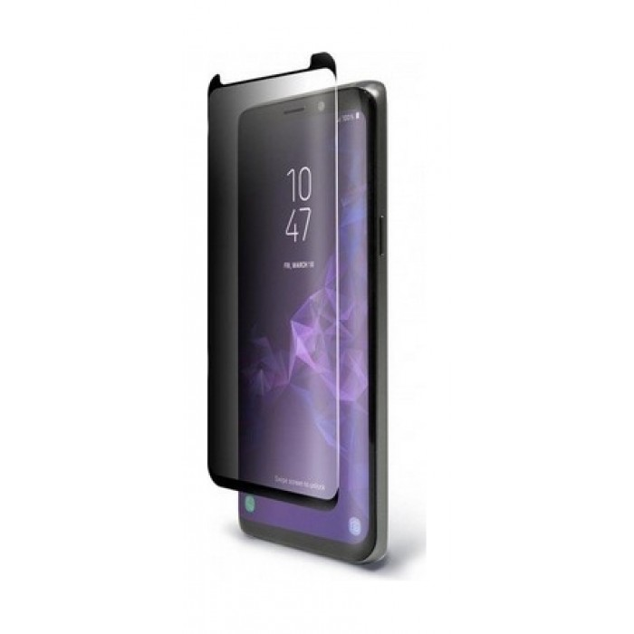 BodyGuardz Samsung Galaxy S9 Plus Pure Arc Privacy Glass Screen Protector