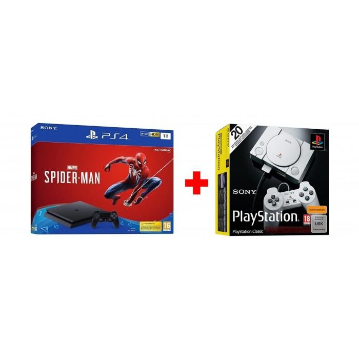Spider Man 1TB PS4 Console - Black + Marvel Spider Man Game