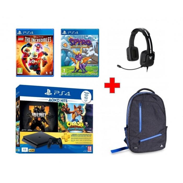 PlayStation 4 Slim 1TB + COD Black Ops + Crash Bandicoot +