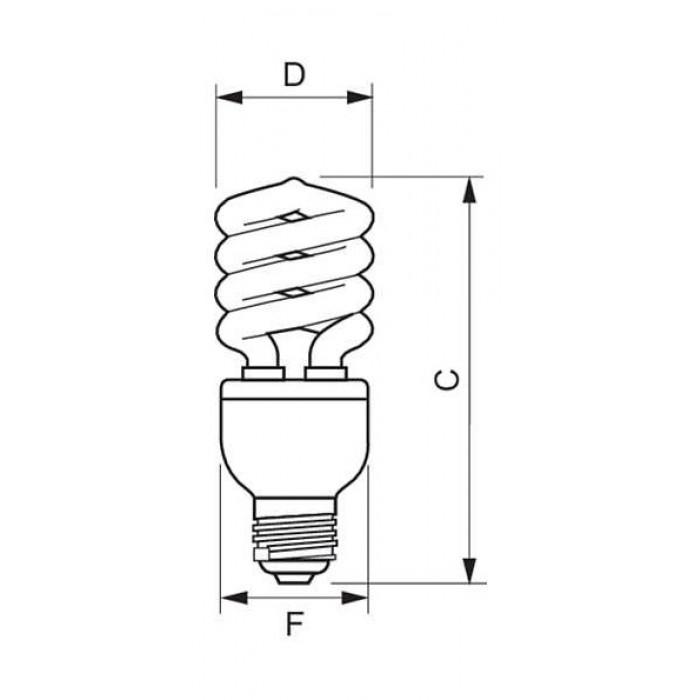 philips 20w tornado compact fluorescent lamp  3892 cfl