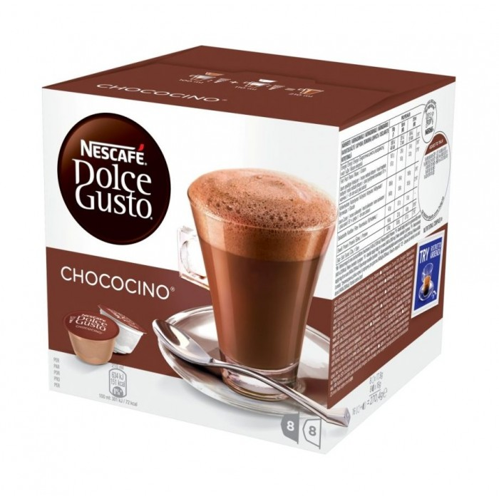 Dolce Gusto Nescafe Chococino Chocolate Capsule 16 Capsule Xcite Alghanim Electronics Best Online Shopping Experience In Kuwait