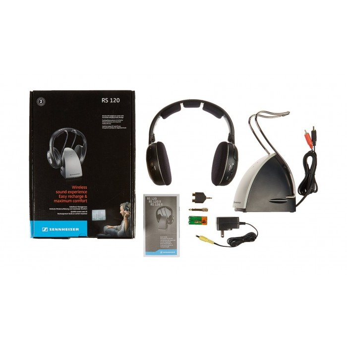 a220c762693 Sennheiser Wireless Headphones (RS 120 II) – Black / Silver | Xcite ...