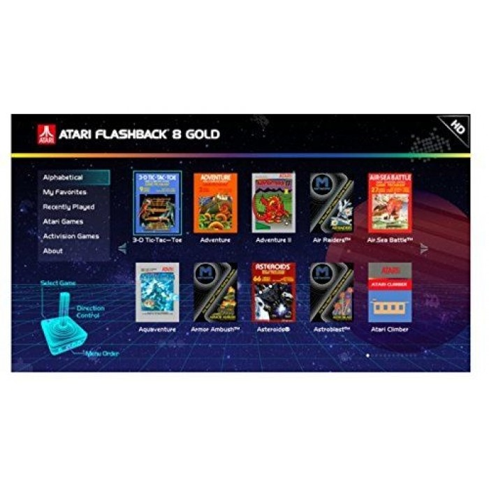 Atari Flashback 8 Gold 120 Built In Games Xcite Kuwait