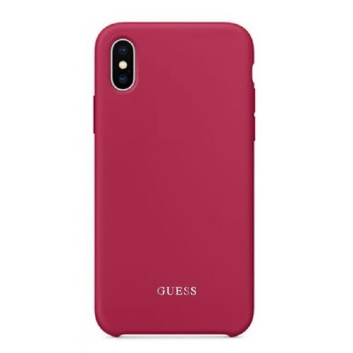 low priced 3ef95 f20e4 Guess Silicone Case For iPhone X - Pink