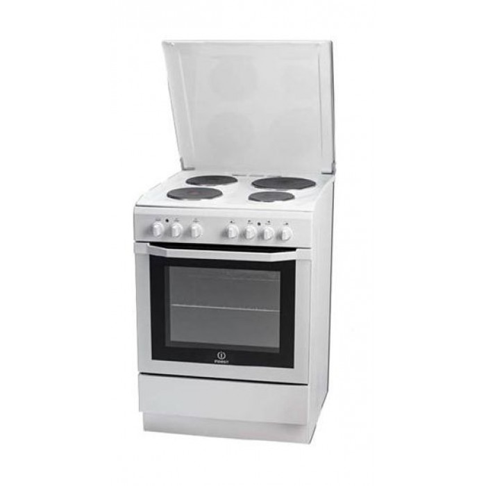 Indesit 60x60 4-Burner Free Standing Electric Cooker (I6e55H2E (W)/EX)