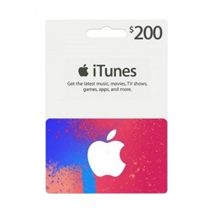 Apple iTunes Gift Card $200 (U S  Account)